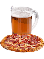 <p>Pizza and a Pitcher!<br />